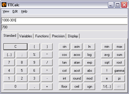 Portable TTCalc for Linux 0.9.3 full